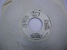 J.R Bailey Love Love Love/Too Far Gone To Turn Around 45RPM 1972 Toy Records VG+