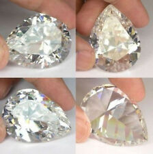 White Sapphire 10x14mm 8.72ct Pear Faceted Cut Shape AAAAA VVS Loose Gemstone