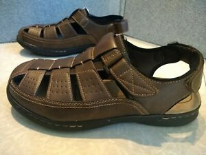 NWT $60 MSRP, Mens Croft & Barrow Ellis Comfort Foam Ortholite Fisherman Sandals