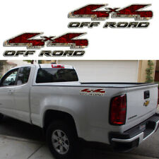 Red Camouflage 4X4 OFF ROAD Sticker Car Decal for Chevrolet Silverado Suburban