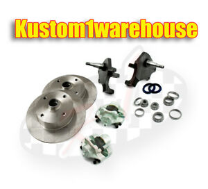 """VW front 2.5"""" dropped lower spindle disc brake conversion kit 4 x130 Volkswagen"""