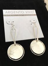 Argento Vivo Silver Earrings Made In Italy Retail $68
