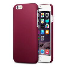 Rojo sólido Slim Armour recubierto de goma cubierta trasera Carcasa Dura para Nuevo Apple iPhone 6/6S
