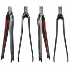 Full Carbon Fiber Bicycle Fork 1 1/8 Straight Fork 700C Part Road Bike Glossy