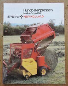orig. Prospekt Sperry New Holland Rundballenpresse 841/861 Schlepper 8Seiten