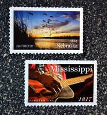 2017USA #5179 Forever - Nebraska & Mississippi & Statehood Set  -  Mint NH