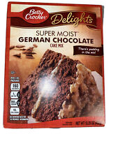 NEW BETTY CROCKER DELIGHTS SUPER MOIST GERMAN CHOCOLATE CAKE MIX 15.25 OZ BOX