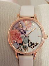 Olivia Burton London Ladies Enchanted Garden Pink Rose Gold Watch Brand New