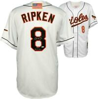 Cal Ripken Jr. Orioles Signed White 2001 M&N Authentic Jersey with HOF Insc