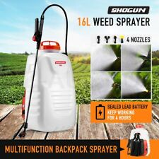 New 16L Electric Backpack Weed Sprayer 12V Rechargeable Pump Watering Farm Tool