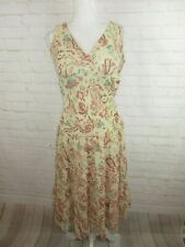New DRESSBARN Shimmery Pleated Blouson Medallion Paisley Maxi Dress Plus Size