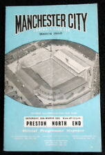 Manchester  City v Preston North End    20-3-1965       with token