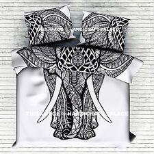 Urban Elephant Indian Duvet Doona Cover Mandala Hippie Bohemian Quilt Comforter