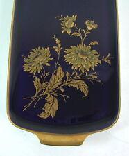 Lindner Tablett / Kuchenplatte - Goldaster  -  Kobaltblau & Gold