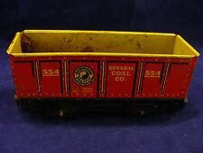 VINTAGE Metal/Tin Train Coal Car 554 Northern Pacific General Coal Co