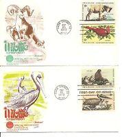 US SC # 1464-1467 Wildlife Conservation FDC. Fleetwood Cachet.
