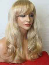 Strawberry Blonde Fashion real natural Long Wavy costume Women LADY Full WIG C7