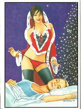 Gay Lesbian LGBT Holiday Cards G-Gallery Lesbian Silk Stocking Sugar Plums