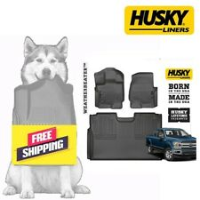 Husky Liners Floor Mats WeatherBeater Blk for 15-19 Ford F-150 SuperCrew Cab