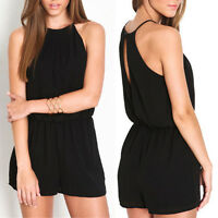 Fashion Women Sexy Halter Playsuit Bodycon Clubwear Jumpsuit Romper Trousers
