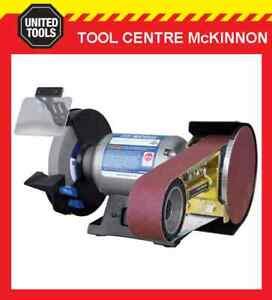 """ITM 8""""/200mm HEAVY DUTY BENCH GRINDER WITH PO362 MULTITOOL LINISHING ATTACHMENT"""