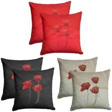 Faux Silk Floral Decorative Cushion Covers
