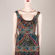 ANNA SUI for ANTHROPOLOGIE Damen Kleid M 38 Schwarz Gepustert Bestickt Designer