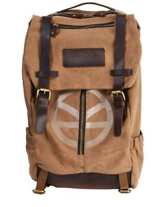 KINGSMAN Leather and canvas bag - Premium Quality back pack - rare item