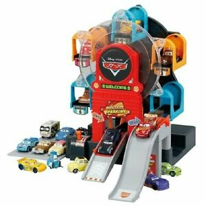 Takara Tomy Tomica Disney Pixar Cars Big Rotary Motion Parking Playset Japan Toy
