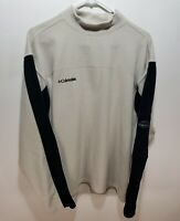 Mens Columbia Gray Thick Omni-Them Pullover Fleece Warm Jacket Hiking Size Large