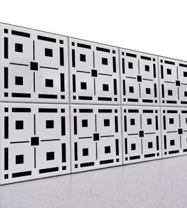 Modern Geometric Stencil -Reusable Stencil for Floors, Walls, Tiles, Decorations