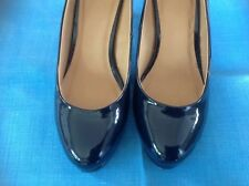 PLATFORM COURT SHOES navy 6 excellent condition worn once John lewis