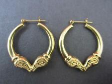 Vintage 14k Solid Yellow Gold Kissing Ram Earrings