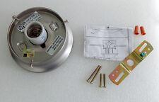 4 inch flush mount satin nickel fitter / ceiling light fixture base shade holder
