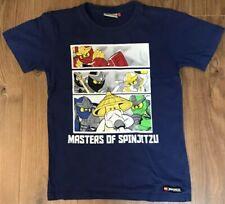 Lego Ninjago Masters Of Spinjitzu T-Shirt Blue With Design Age 9