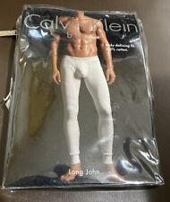 Calvin Klein Body Defining Fit 100% Cotton Long John White Size XL Tagless