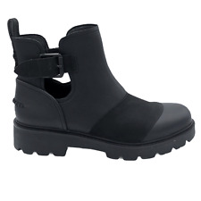 UGG STOCKTON ANKLE BLACK WATERPROOF LEATHER COMBAT WOMEN'S BOOTS US SIZE 11