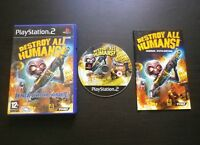 DESTROY ALL HUMANS ! JEU Sony PLAYSTATION 2 PS2 (Pandemic COMPLET envoi suivi)