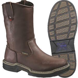 Wolverine Boots MultiShox Steel-Toe Waterproof W04826 Wellington Brown Leather