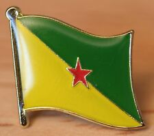 FRENCH GUIANA Guyane France Flag Country Metal Lapel Pin Badge