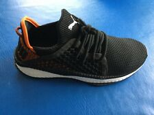 New Puma Tsugi Netfit Black/Orange/White Men's Running Shoes SIZE 9.5
