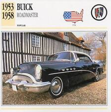 1953-1958 BUICK ROADMASTER Classic Car Photograph / Information Maxi Card