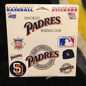 San Diego Padres. Mello Smello Sticker set. New in shrink.