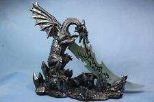 Dragon Statue Dragon Sculpture with Knife Letter Opener Large New