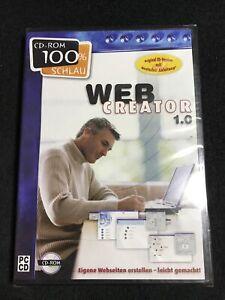 Web Creator 1.0 Eigene Webseiten erstellen für PC ab Win 95/98 - Neu & OVP @701