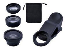 Objektiv für Smartphone Tablet 3in1 Makro Weitwinkel Fischauge Linse #3870