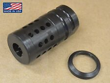 "FXC-A1 Short Muzzle Brake Compensator 5/8""-24+Crush Washer .308 300 blackout"