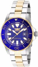 Invicta Mens Pro Diver Abyss Blue Dial Two Tone Stainless Steel Bracelet Watch