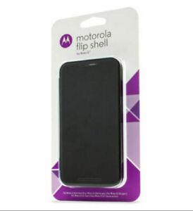 (Lot of 5) NEW Motorola flip shell for Moto G (3rd gen) black
