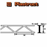 Plastruct OWTS-4 Pack of 2 Plastic Open Web Truss 3.2 x 4.8 x 150mm
